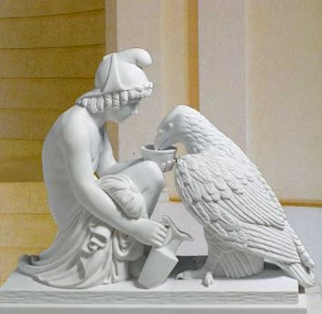 From the Thorvaldsen Collection - Ganymede and the Eagle